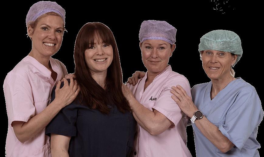 Personal som utför hårtransplantation hos New Hair Clinic.